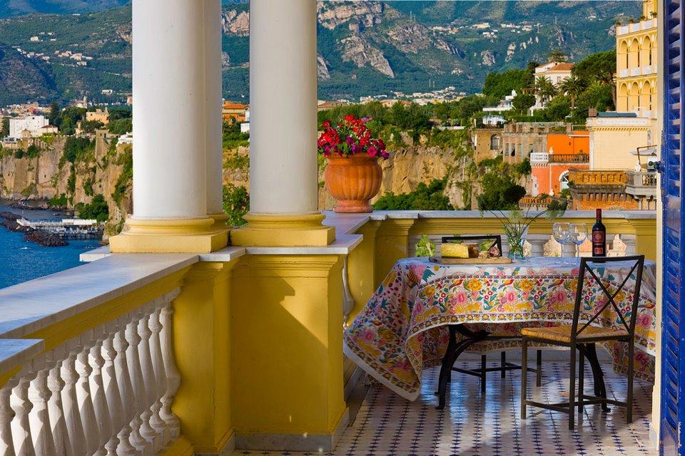View from villa for 2012 Bala Yoga Sorrento Retreat