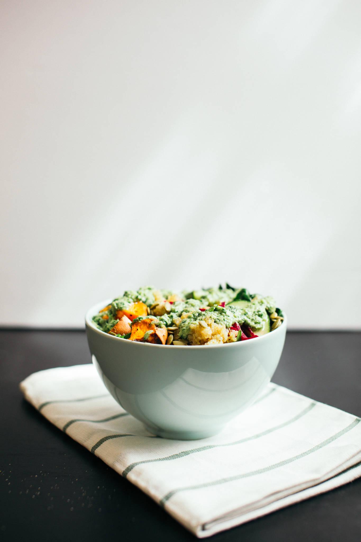 Spring Detox Quinoa Salad Recipe - Vegetarian