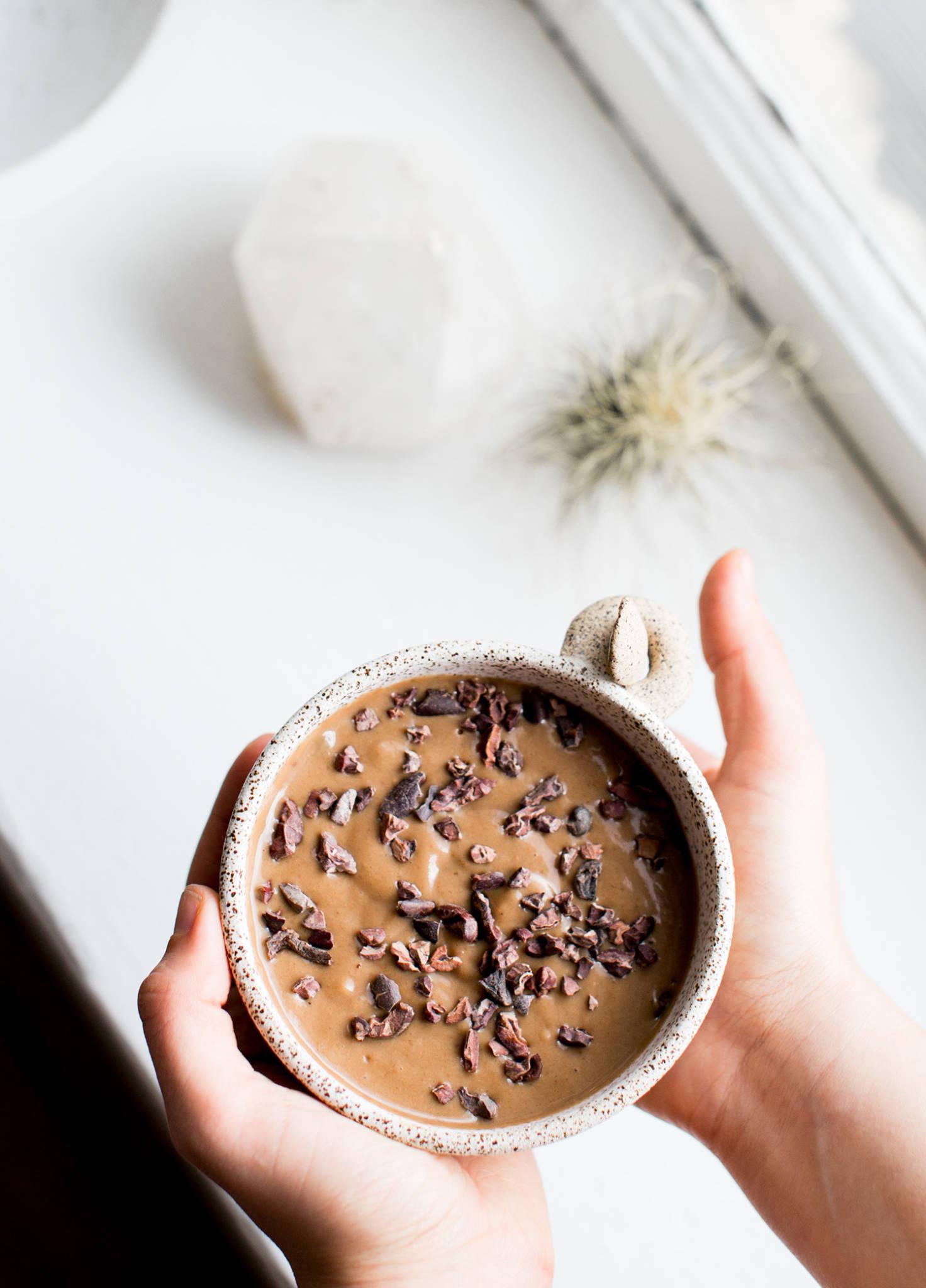Spring Detox Smoothie Recipe with Maca & Cacao